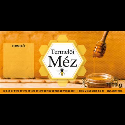 Címke bianco Termelői méz 1000g