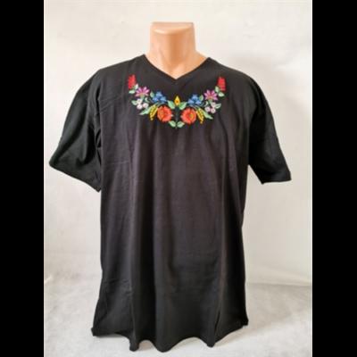 Méhészet Női V nyakú póló fekete XXL-es méret (nagy méret)