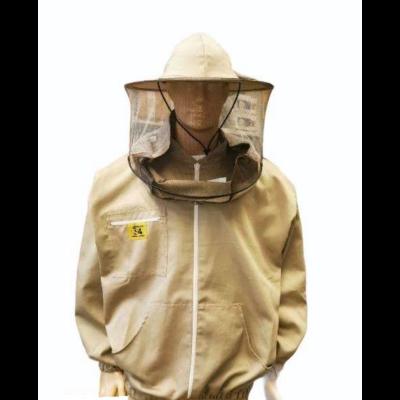 Méhészkabát zippzáras vastag M-es méret drapp